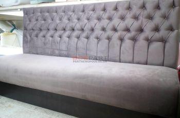 Καναπές καπιτονέ ειδικών διαστάσεων