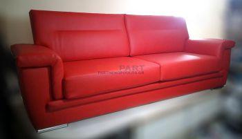 Κατασκευή καναπέ με δερματίνη