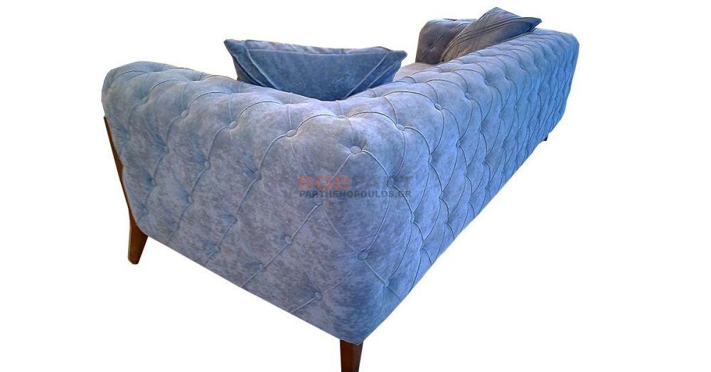 Καναπές τριθέσιος καπιτονέ