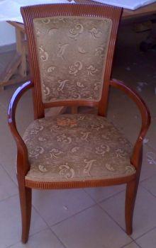Αλλαγή υφασμάτων σε καρέκλα τραπεζαρίας
