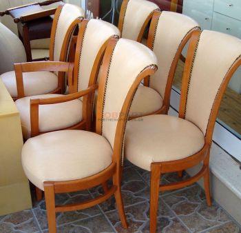 Αντικατάσταση υφάσματος με δερματίνη σε καρέκλες
