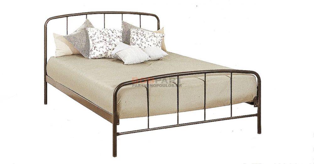 Κρεβάτι μεταλλικό ημιδιπλο