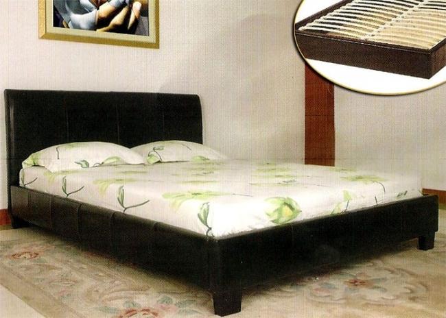 Κρεβάτι δερμάτινο διπλό