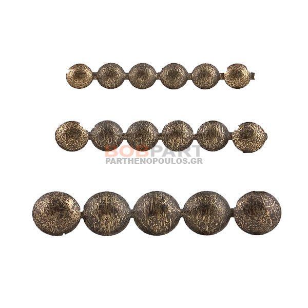 Καμπαράδες μπρονζέ με το μέτρο 16 mm